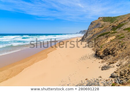 Sandy beach and dunes in Portugal Stock photo © homydesign