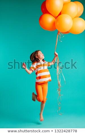 少女 ヘリウム 風船 幼年 ストックフォト © dolgachov