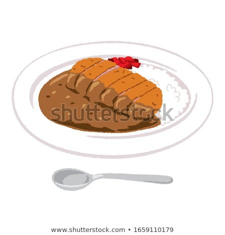 Fűszeres disznóhús vágódeszka étel forró bors Stock fotó © Digifoodstock