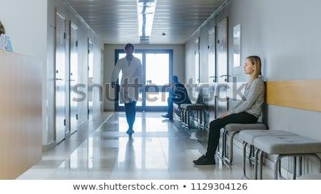 Beteg vár kórház operáció férfi Stock fotó © meinzahn