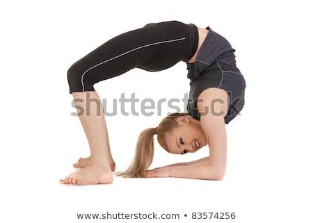 Parlak resim uygunluk eğitmen beyaz seksi Stok fotoğraf © artfotodima