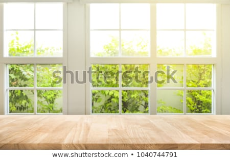 A window with a view of the trees Stock photo © bluering