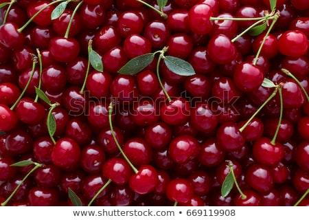 fresh red organic cherry cherries stock photo © klinker