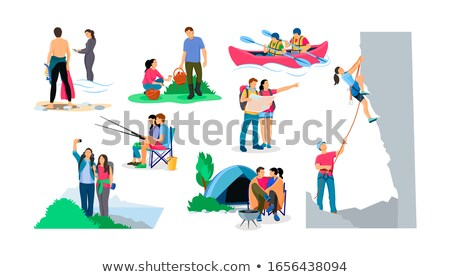 Stock photo: couple go diving
