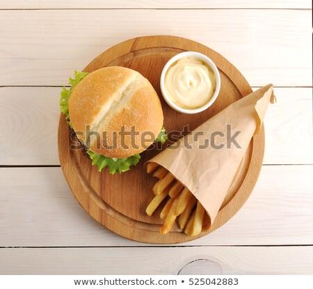 フライド · 野菜 · まな板 · 食品 · ジャガイモ · 地上 - ストックフォト © Digifoodstock