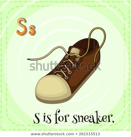 Flashcard letter S is for sneaker Stock photo © bluering