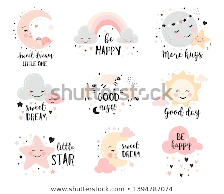 Stock photo: baby girl shower card with little sheep