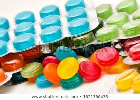 garganta · inflamada · silhueta · homem · médico · saúde · doente - foto stock © bluering