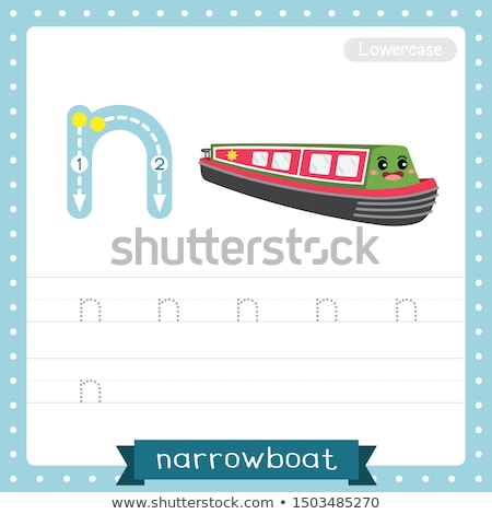 Flashcard letter N is for narrow Stock photo © bluering