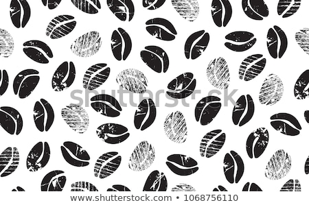 vector abstract background with seamless coffee bean pattern Stock photo © freesoulproduction