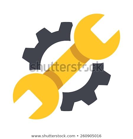 Engrenagem roda dentada aplicativo ícone modelo móvel Foto stock © Said