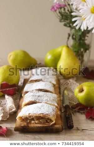 Armut seçici odak stil rustik meyve arka plan Stok fotoğraf © zoryanchik