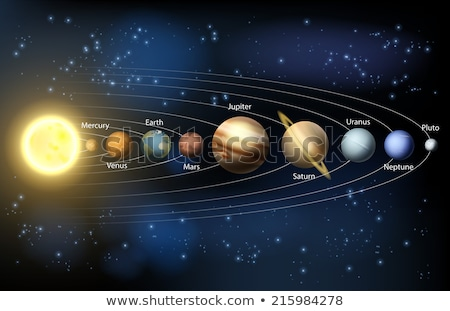 Stock photo: Planetary system vector illustration clip-art image
