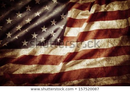 ストックフォト: ヴィンテージ · アメリカンフラグ · 日光 · 抽象的な · フラグ · 企業
