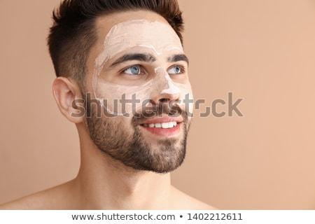 Knappe man huid lichaam model naakt rook Stockfoto © konradbak