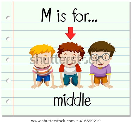 Flashcard letter M is for middle Stock photo © bluering