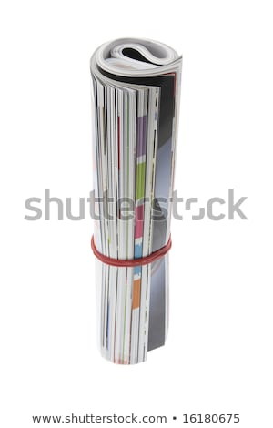 rolled up magazines isolaten on white Stock photo © kayros