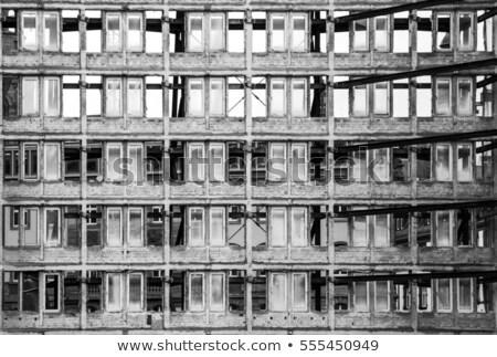 Façade vieux gratte-ciel prêt verre Photo stock © meinzahn