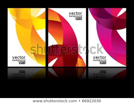 Gelb Welle kreative Briefkopf Vorlage Vektor Stock foto © SArts