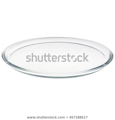 Vuota trasparente piatto coupe stile vetro Foto d'archivio © Digifoodstock