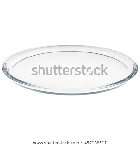 пусто прозрачный пластина двухместная карета стиль стекла Сток-фото © Digifoodstock