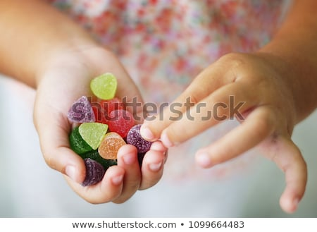 Színes zselé cukorkák izolált fehér étel Stock fotó © Taigi