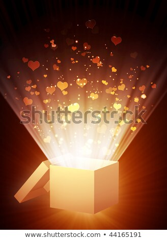 Open Celebratory Gift Box With Hearts.  Stock photo © kayros