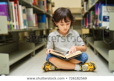 子供 · 読む · 図書 · 実例 · 幸せ · 座って - ストックフォト © bluering