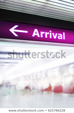 Tourist info signage in assembly lounge Stock photo © ssuaphoto