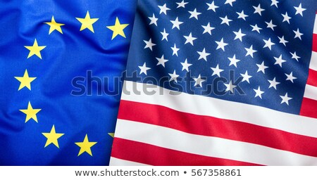 Abstract Flag of European Union with blended stars. Stock photo © tkacchuk