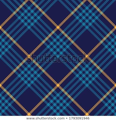 Yellow diagonal tartan fabric vector seamless pattern background Stock photo © sanjanovakovic