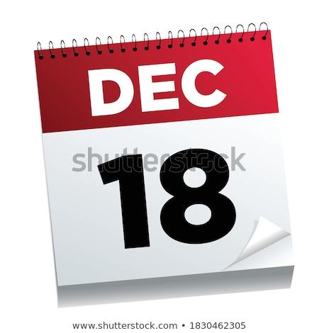 december · kalender · internationale · dag · corruptie - stockfoto © oakozhan