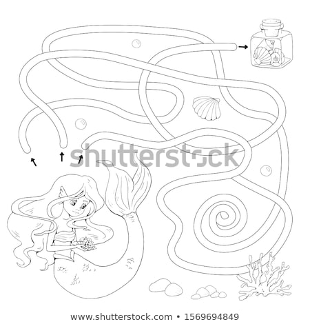 人魚 · 少女 · 女性 · 髪 · 美 · 海 - ストックフォト © dazdraperma