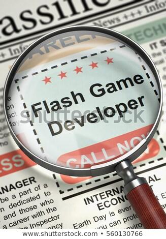Flash gry wywoływacz 3d ilustracji mały reklamy Zdjęcia stock © tashatuvango