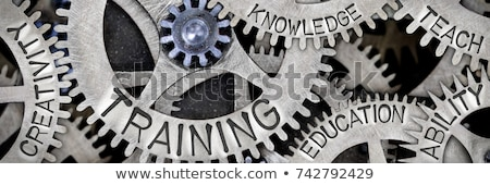 training and development   text on mechanism of metal cog gears stock photo © tashatuvango