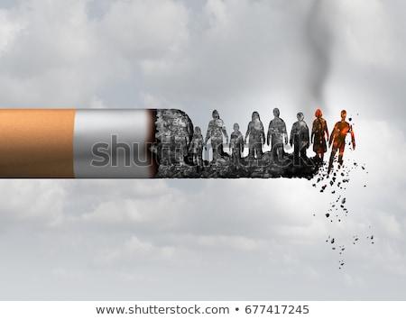Sigara içme toplum sigara tiryakisi ölüm duman sağlık Stok fotoğraf © Lightsource