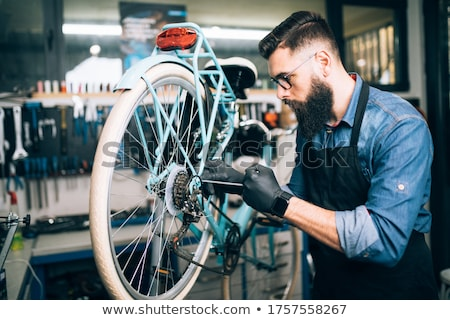 Bicycle repairs stock photo © Kidza
