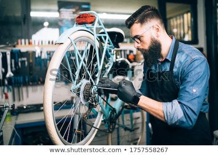 自転車 画像 修復 自転車 ショップ ストックフォト © Kidza