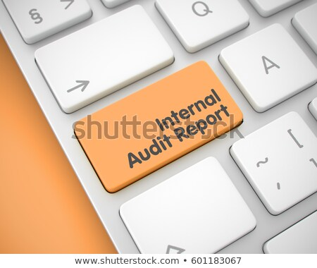 Internal Audit Report - Text on the Orange Keyboard Button. 3D. Stock photo © tashatuvango
