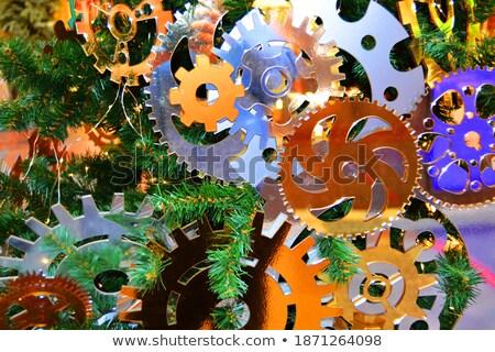 Golden Metallic Cogwheels with New Technologies Concept. Stock photo © tashatuvango