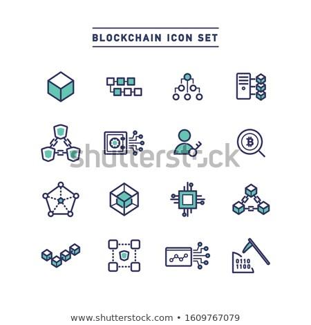 Bitcoin net linkler vektör stil Stok fotoğraf © ahasoft