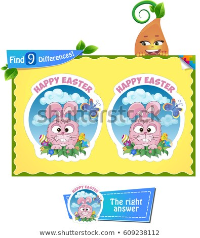 find 9 differences Easter holiday Stock photo © Olena