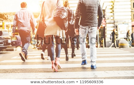 Crowd of people walking in street city center - Concept of moder Stock photo © DisobeyArt