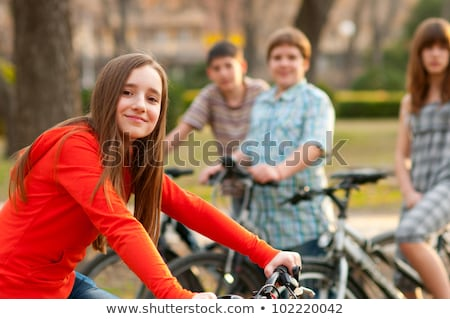 Group of teenagers at bike park Stock photo © IS2