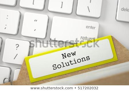Sort Index Card with Inscription Fresh Ideas. 3D Render. Stock photo © tashatuvango
