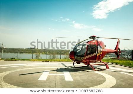 Helicopter on the helipad Stock photo © IMaster
