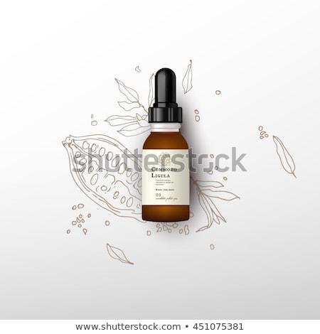 Klasszikus üvegek címke fehér orvosi egészség Stock fotó © haraldmuc