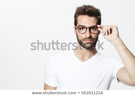 ハンサムな男 眼鏡 肖像 ハンサム 若い男 スーツ ストックフォト © LightFieldStudios