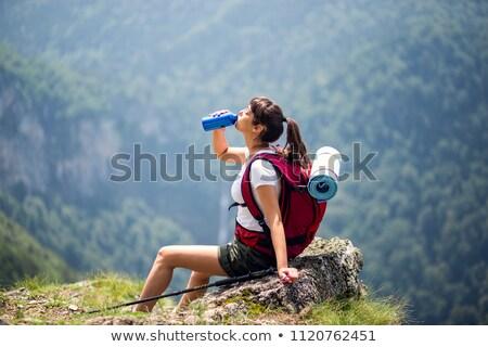 Pitnej butelki wody żywności kolor sukces Zdjęcia stock © IS2