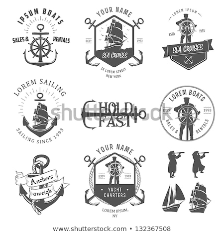 Stock photo: Set of vintage nautical labels